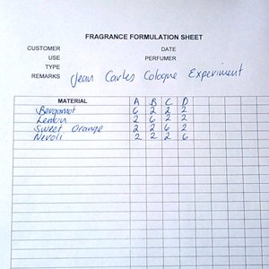 Perfume formulations pdf